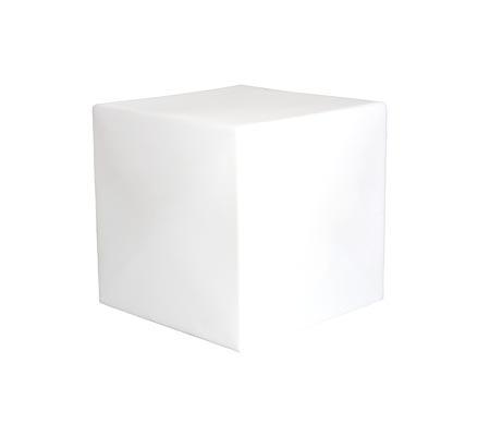 Cubo cuadrado con luz blanca