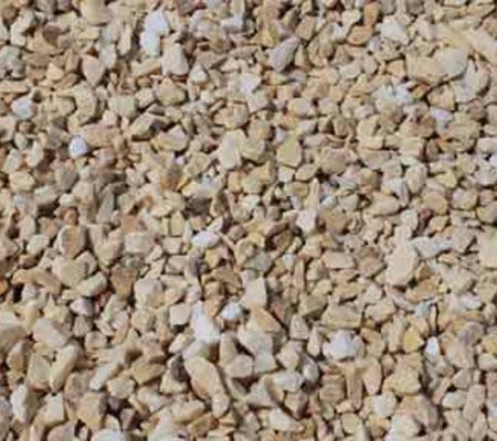 Piedra natural triturada